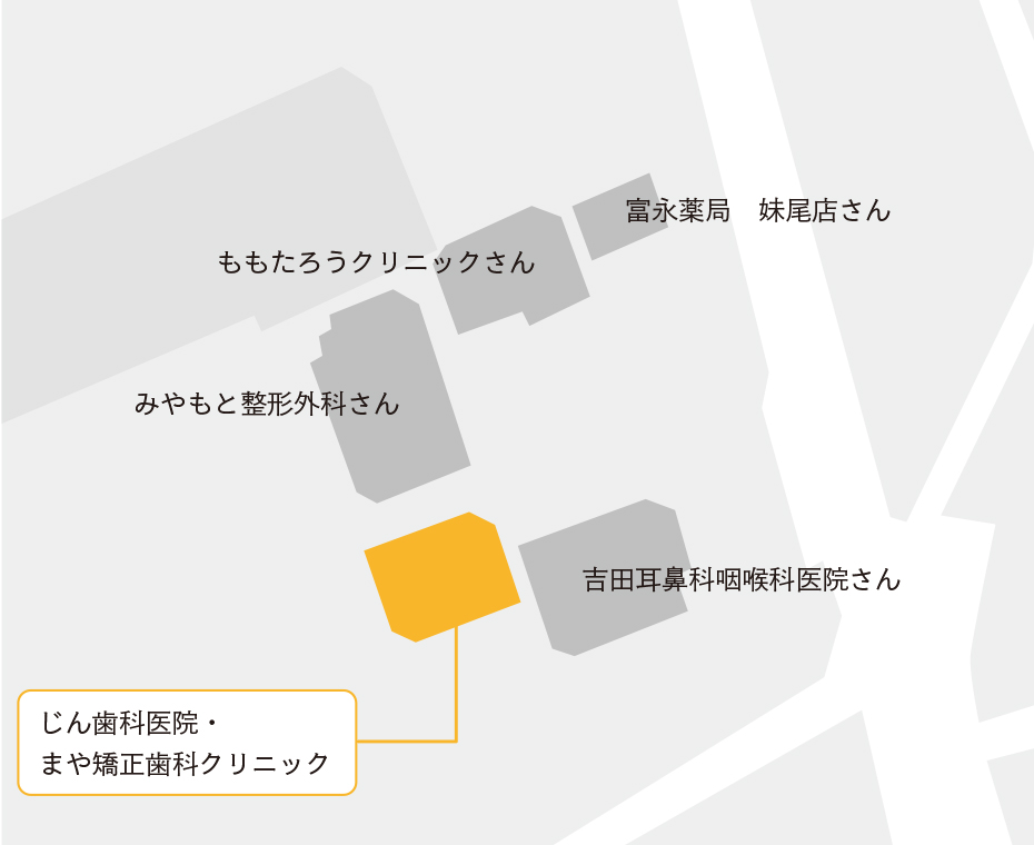 妹尾医療モール内map